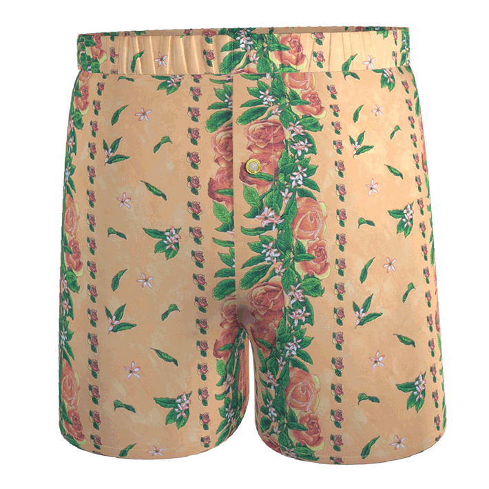 ANDLR_calecon-homme-orange_roses_feuillages_vert-bouton-upcycling