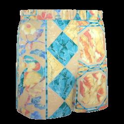 Short_de_bain_Upcycling_Homme-Colore-DAMOiSEAUX-Imprimé_Tropical_Perruche_Oiseaux