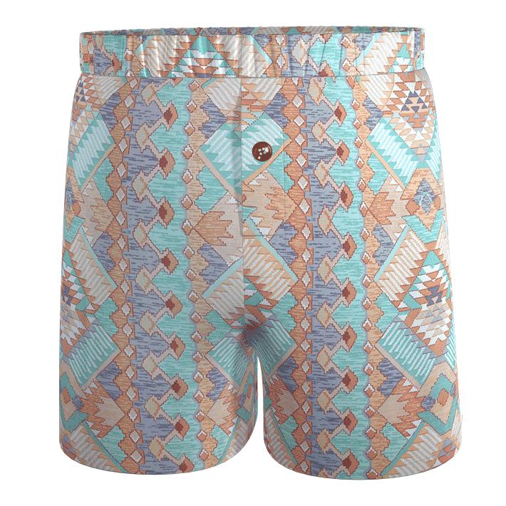 dogfish-calecon-damoiseaux-imprime-graphique-losanges-violet-vert-marron