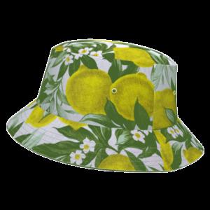 ACiDOU-bob-citrons-jaune-reversible-imprime-vegetal-fleurs-feuilles-damoiseaux-upcycling