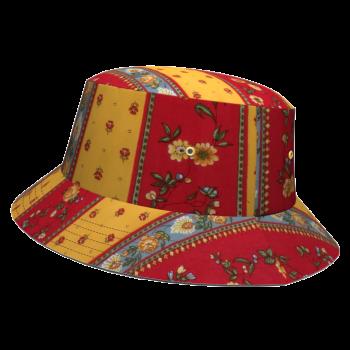 ALANDALUZ-bob-damoiseaux-homme-femme-rouge-jaune-fleurs-provencal