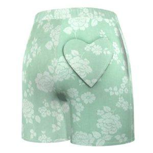 short-upcycling-taille-haute-poche-femme-vert-pale-mode-eco-responsable